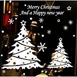 Christmas tree electrostatic post shop window glass decorative wall stickers