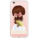 Cute Cartoon Girl Pattern TPU Ultra-thin Translucent Soft Back Cover for Apple iPhone 6s Plus/6 Plus/ 6s/6/ SE/5s/5
