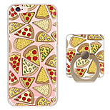 Pizza Pattern Ring Holder Ultra-thin Translucent Soft TPU Back Cover for iPhone 6s Plus/6 Plus/6s/6/SE/5s/5