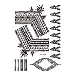 1pc Flash Black Henna Indian Flower Tattoo Temporary Women Body Art Earring Jewelry Tattoo Sticker BM-LS1019