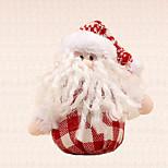 1pc natal decoração da árvore de vermelho grade branca Papai Noel pingente de suprimentos casa de Ano Novo