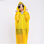 Dot Pattern Translucent Multicolor Raincoat