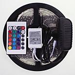 5m 16.4ft waterdichte rgb 300x5630 SMD LED flexibele led strips 24 sleutel ir 12v 2a voeding AC100-240V