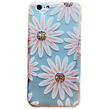 Dandelion Love Rhinestone Embossed Frosted TPU Phone Case for iPhone 6 6S 6 Plus 6S Plus