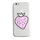 de volta Congelado / Translúcido Fruta TPU Macio Embossed ,Scrub Case Capa Para Apple iPhone 6s Plus/6 Plus / iPhone 6s/6