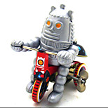 Novelty Toy Pretend Play Puzzle Toy  Wind-up Toy Novelty Toy  Bicycle Robot Metal Silver For Kids