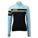 Sports Cycling Tops Women's Bike Breathable / Front Zipper /Ultra Light Fabric / Compression Long SleeveLYCRA® /