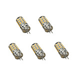 5 pcs G4 3W LED Bi-pin Lights 24LED SMD 2835 200 lm Warm White / Cool White Decorative AC 220-240 V