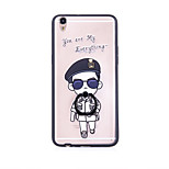 Ring Holder / Frosted / Translucent / Embossed / Pattern Boy Cartoon PC HardLace Printing for iPhone 6/6s/6plus/6s plus