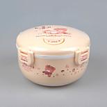 alimentos de marca contenedores de comida de plástico de calidad a prueba de fugas con tapa yooyee