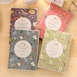 Korea Stationery Cute Warm Color Of Flowers And Birds Portable Pouches Notepad 64K