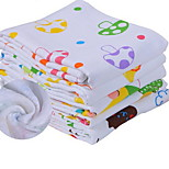Baby Summer Cloth Printing Double Honeycomb Gauze Towel Cartoon Baby Child Pure Cotton Bath Towel (Random Color)
