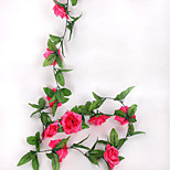 2.4 M Long 10 Rose Simulation Flower Vine Article Interior Fence Fake Flower Vine Bar