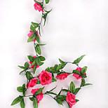 2.4 M Long 10 Rose Simulation Flower Vine Article Interior Fence Fake Flower Vine Bar