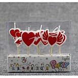 Birthday Party Accessories-1Piece/Set Candle Favors  Eco-friendly Material Classic Theme Other Non-personalised Red