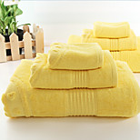 3 Pcs Bamboo Fiber Thickening Bath Towel Set Super Soft