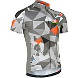 Sports Bike/Cycling Tops Men's Short Sleeve Breathable / Front Zipper /Ultra Light Fabric / Soft / ComfortableLYCRA® /