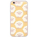 Cartoon Sheep Pattern TPU Ultra-thin Translucent Soft Back Cover for Apple iPhone 6s 6 Plus SE/5s/5