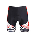 Breathable New Men 's Cycling Shorts Bike TROUSERS With 3 d Pad Lycra  DX657 Red Skeleton