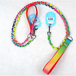 Dog Leash Adjustable/Retractable Rainbow Metal / Textile