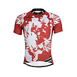 Breathable Paladin Summer Male Short Sleeve Cycling Jerseys 100% Polyester DX657 Red Skeleton