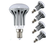 5pcs R50 5W E14 450LM LED Lamp Spotlight Candle Indoor Lampada LED Lighting(AC185-265V)