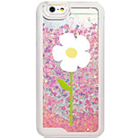 Flowing Quicksand Liquid/Pattern White Flower PC Hard Case For Apple iPhone 6s 6 Plus SE/5s/5