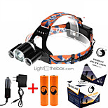 U`King® Headlamps / Headlamp Straps LED 5000ML Lumens 4 Mode Cree XM-L T6 18650 Rechargeable / Compact Size / High Power