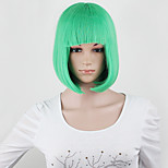 A Quality!10 Colors Bob Women Short Wigs Black Ladies Synthetic Wigs Women Short Straight Hair Cosplay Wigs Green