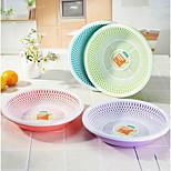 Small Plastic Circular Plastic Fruit Plate Fruit Plate Vegetable Dish Draining Kitchenware