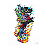1pc Temporary Tattoo Sticker Women Men Body Arm Art Flying Phoenix Pattern Design Sexy Product Tattoo HB-379
