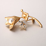 European and American fashion zircon Pearl Brooch Series 009