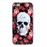 Shockproof / Frosted / Embossed / Pattern Red Skull TPU Soft  Case Cover For IPhone 6/6s/6plus/6s plus