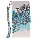 Painted Butterfly Flower Pattern Card Can Lanyard PU Phone Case For Huawei P9 Lite P9 P8 Lite