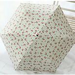 Super Lightweight Vinyl Sunscreen Cherry Pencil Umbrella Folding Umbrella Uv Sun Umbrellas Folded Umbrella Sunny