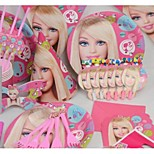 Hard Card Paper Wedding Decorations-99Piece/Set Tissue Paper Decoration Birthday Fairytale Theme Pink