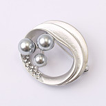 European and American fashion zircon Pearl Brooch Series 022