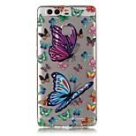 Fit Butterfly Pattern Strong Relief Feel Painted TPU Soft Case Cover For Huawei P9