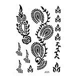 1pc Black Henna Waterproof Tattoo Flower Grass Woman Body Art Temporary Tattoo Sticker BJ025