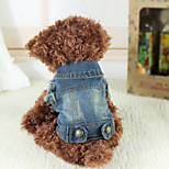 Cães Jeans Azul Inverno Jeans Mantenha Quente, Dog Clothes / Dog Clothing-Other