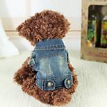 Hunde Jeans Blau Winter Jeans warm halten