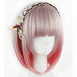 Lovely Girl Lolita Fashion Silky Straight Ombre Pink Color Short Length BOBO Hair Japanses Cosplay Wigs