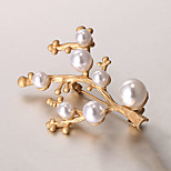 European and American fashion zircon Pearl Brooch Series 015