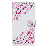 PU Leather Material Small Plum Pattern Phone Case for Huawei P9 Lite/P9/P8 Lite