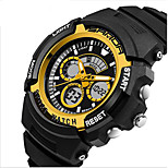 SANDA® Men's Fashion Sport Analog Digital Double Time Rubber Band Waterproof Watch Fashion Wrist Watch Cool Watch