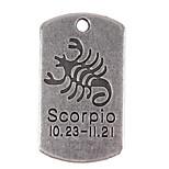 10pcs New Alloy Parts Twelve Constellation Scorpio Square Accessories