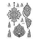 1pc Black Henna Tattoo Sexy Woman Delicacy Earring Body Art Temporary Tattoo Sticker BJ032