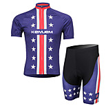 KEIYUEM® Cycling Jersey with Shorts Unisex Short Sleeve BikeWaterproof / Breathable / Quick Dry / Anatomic Design / Rain-Proof /