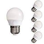 5pcs HRY® 3W E27 Dimmable 10X5730SMD Warm Cool White LED Light Bulb Lamp Globe