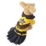 Katzen / Hunde Kostüme / Kleider / Austattungen Gelb Winter / Frühling/Herbst Britsh Cosplay